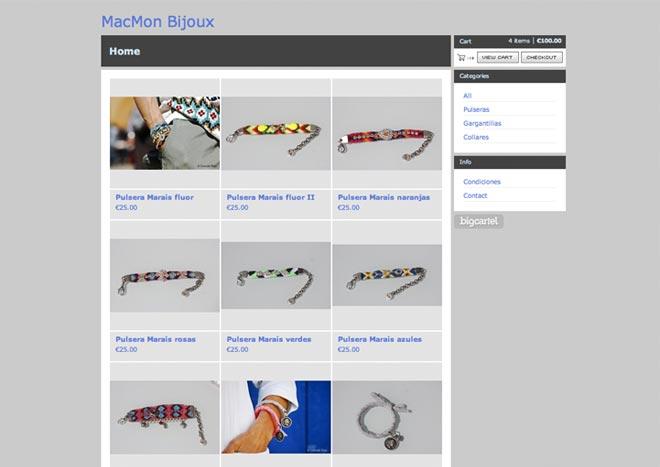 Aixi es com es veia abans la web de Macmon Bijoux