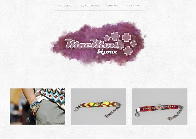 Aixi es com es veu ara la web de macmon bijoux